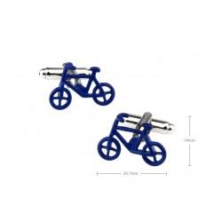 Gemelos con bicicleta