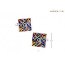 Gemelos clasicos mosaico colores