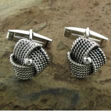 Gemelos de plata con forma de madejas