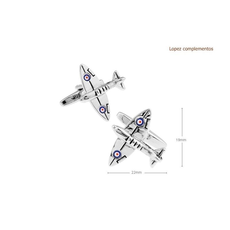 Gemelos con forma de avión spitfire