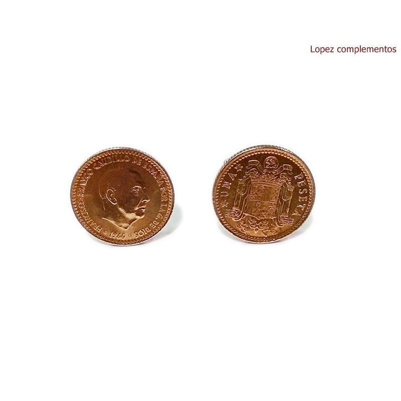 Gemelos Moneda Peseta