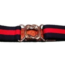 Cinturón Leyva elástico marino y rojo