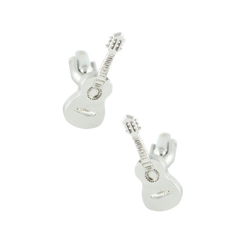 Gemelos con forma de guitarra española
