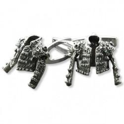 Gemelos de plata con forma de chaquetilla de torero