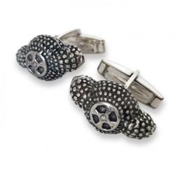 Gemelos de plata con forma de montera