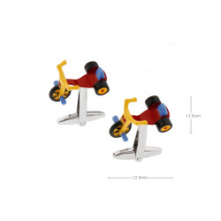 Gemelos con forma de triciclo