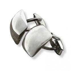 Gemelos de plata con forma cuadrada