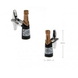 Gemelos con forma de botella de champagne