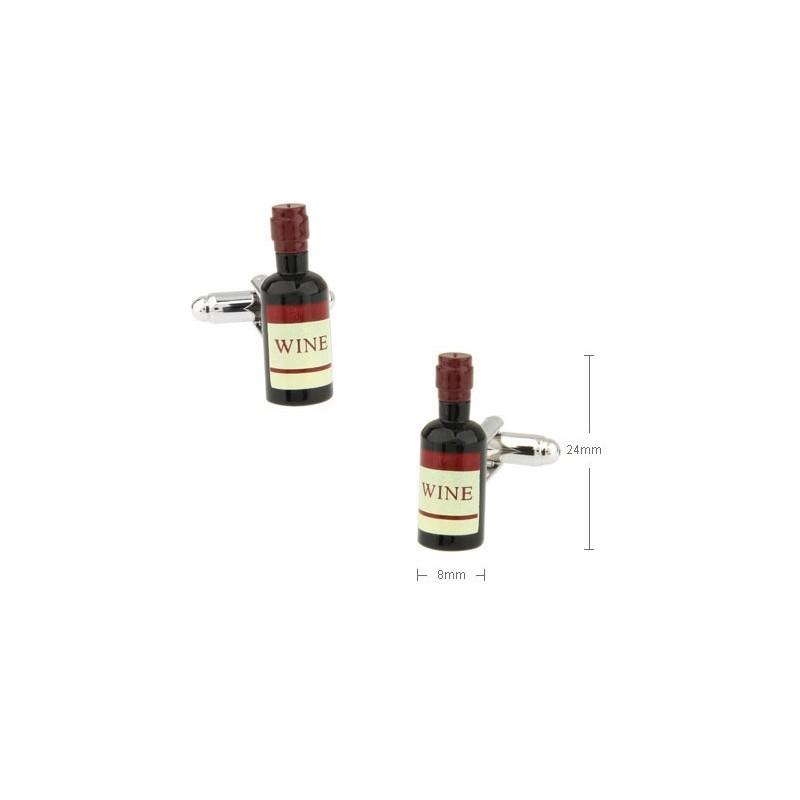 Gemelos con forma de botella de vino