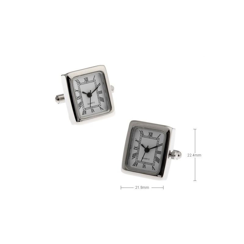 Gemelos con relojes cuadrados