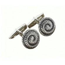 Gemelos de plata con forma de espiral