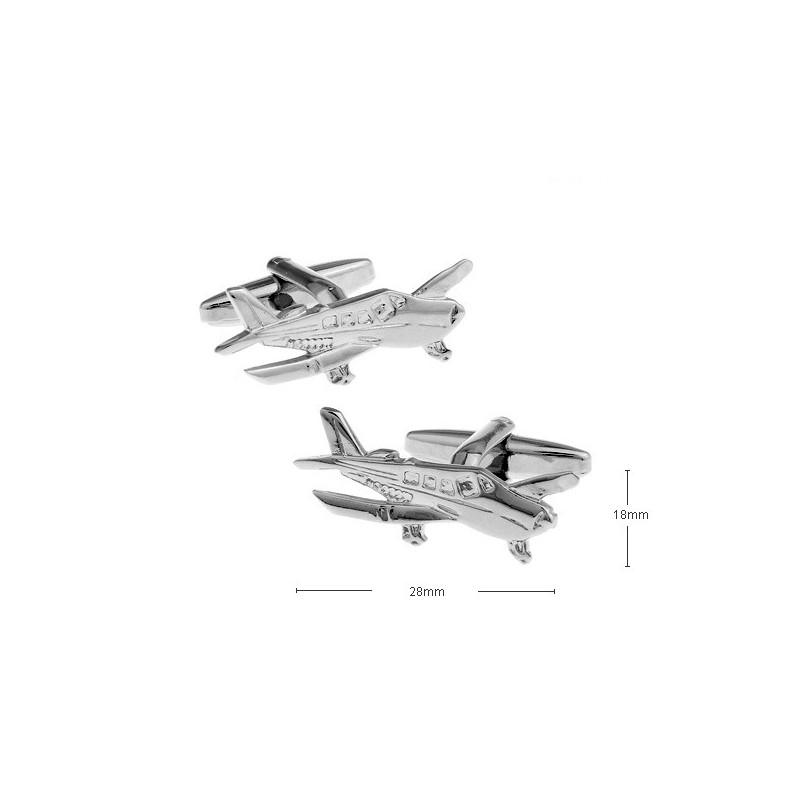 Gemelos con forma de avioneta