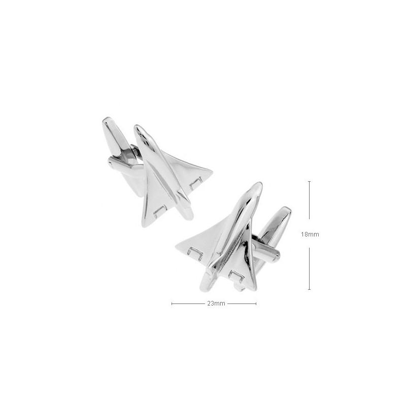 Gemelos con forma de avión concorde