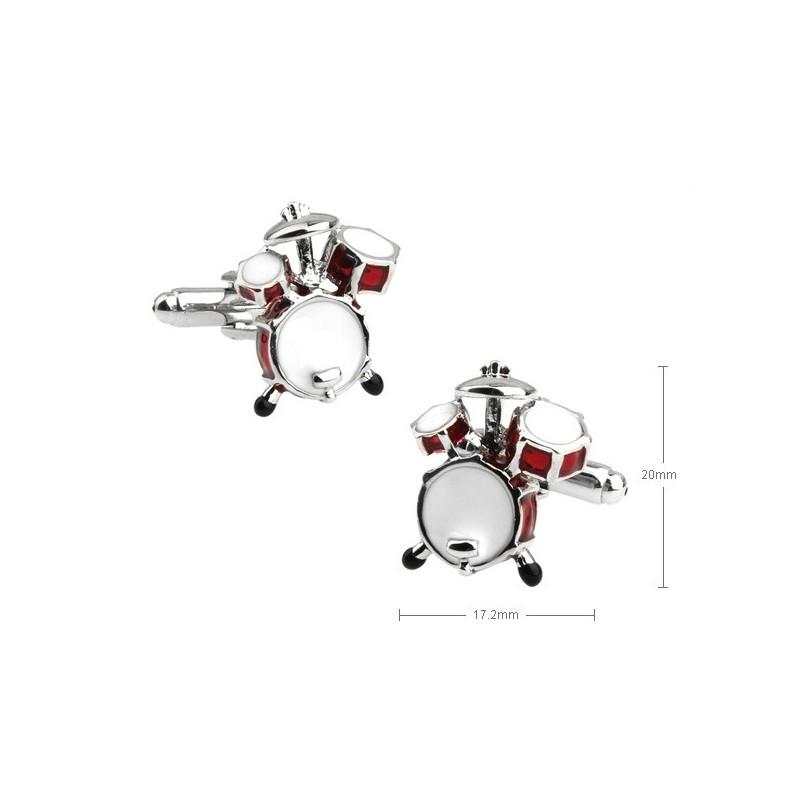 Gemelos con forma de bateria musical