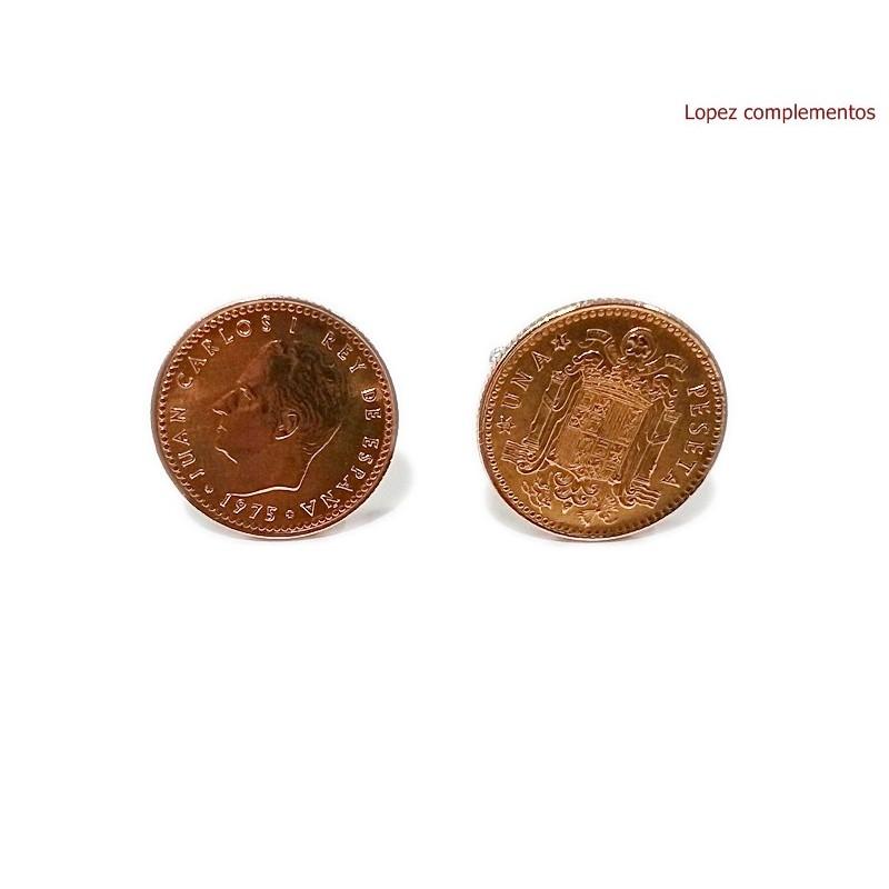 Gemelos Moneda Peseta 1975 J.Carlos I
