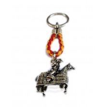 Llavero taurino picador a caballo