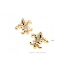 Gemelos clasicos con flor de lis.