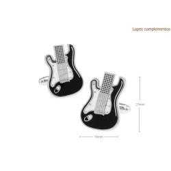 Gemelos con guitarra electrica
