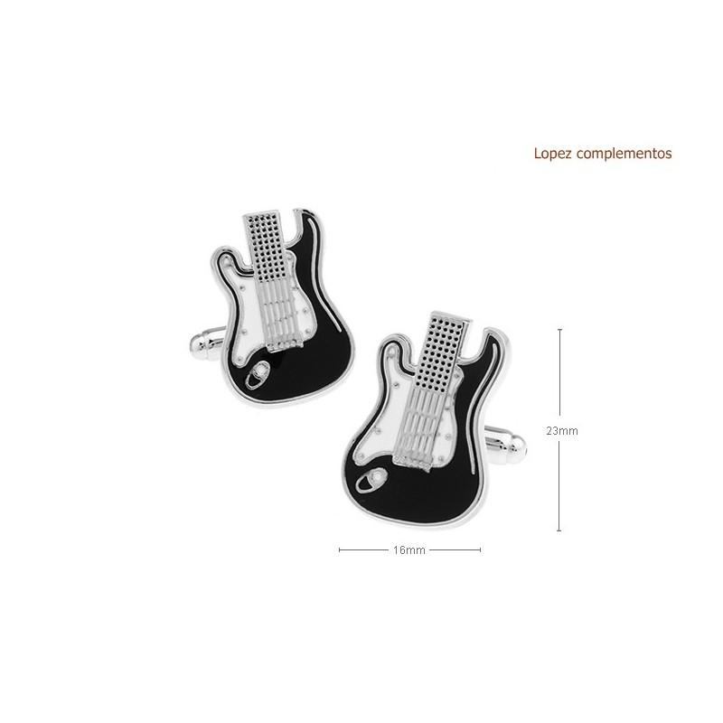 Gemelos con forma de guitarra electrica