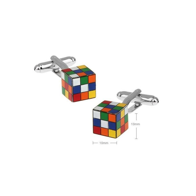 Gemelos con forma de cubo de rubick