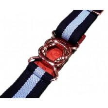 Cinturón Leyva elástico marino y celeste