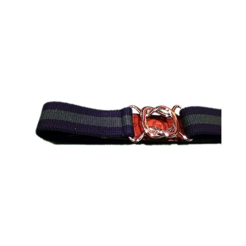 Cinturón Leyva elástico marino y verde