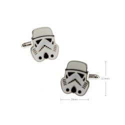 Gemelos con forma de casco soldado imperial