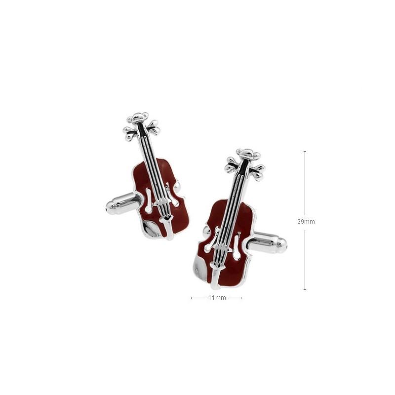 Gemelos con forma de violín