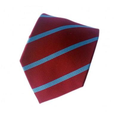 Corbata con rayas albiés