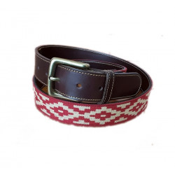 Cinturon argentino guarda pampa rojo
