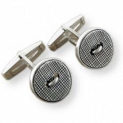 Gemelos de plata con forma de botones