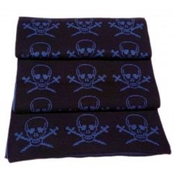 Foulard con piratas color marino
