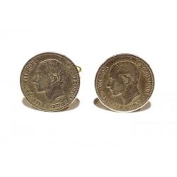 Gemelos Monedas españolas de Alfonso XII-1880