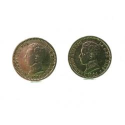 Gemelos Monedas españolas de Alfonso XIII-1904