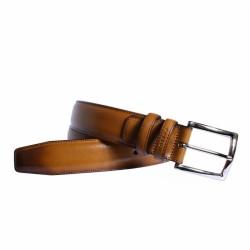 Cinturon de vestir de piel efecto patine