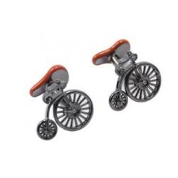 Gemelos con forma de bicicleta antigua