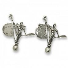 Gemelos de plata con giraldillo de Sevilla