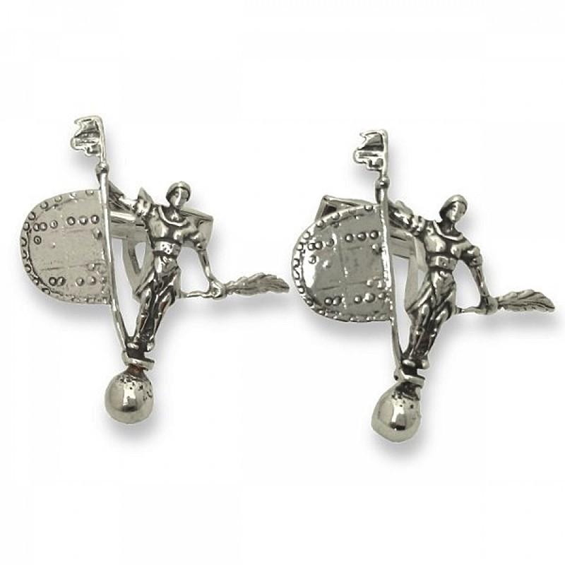 Gemelos de plata con forma de giraldillo de Sevilla