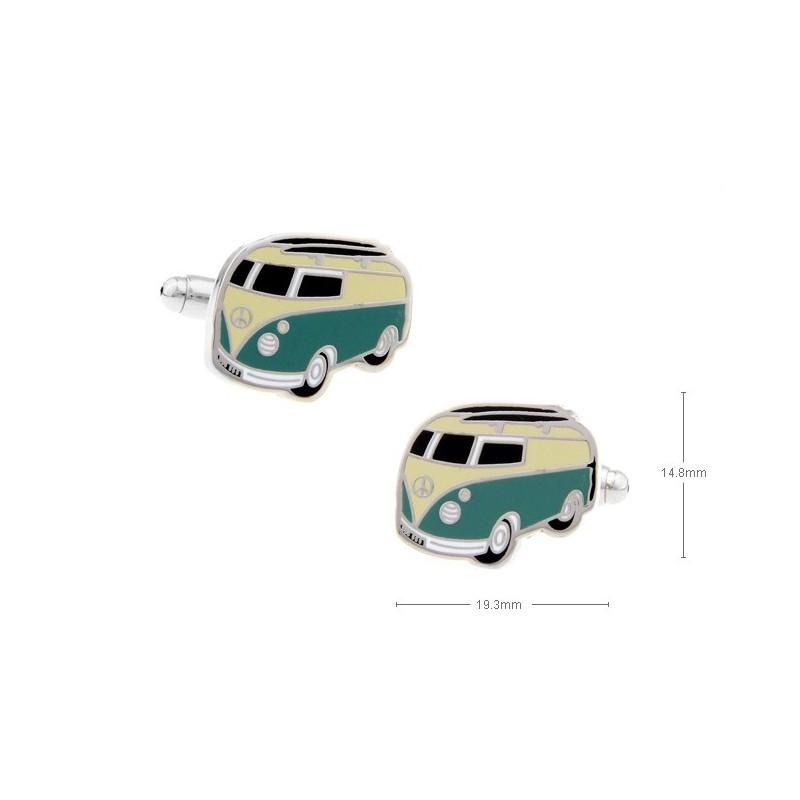 Gemelos con forma de furgoneta wolkswagen