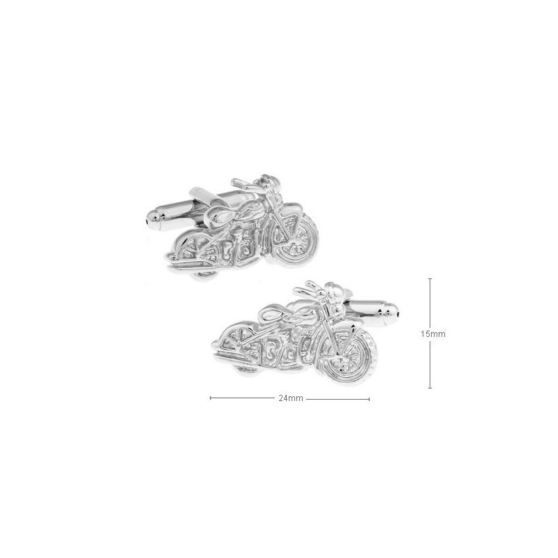 Gemelos con forma de moto custom