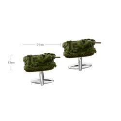 Gemelos militares con tanque verde