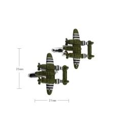 Gemelos militares con avion