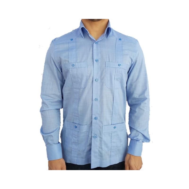 Camisa cubana - Guayabera - marino
