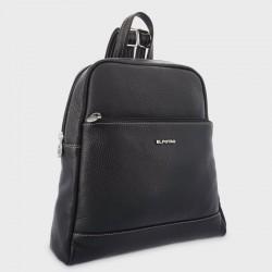 Bolso piel mochila serie flouter negro
