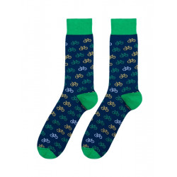 Calcetines divertidos bicis verde