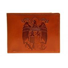 Billetero de cuero con Aguila de San Juan