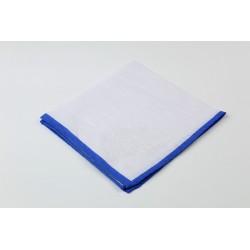 Pañuelo de bolsillo liso con borde verde