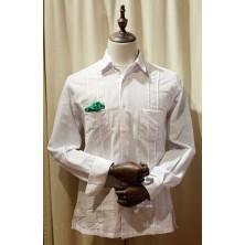 Camisa cubana - Guayabera - color blanco