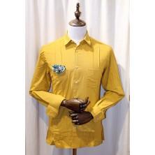 Camisa cubana - Guayabera - color mostaza