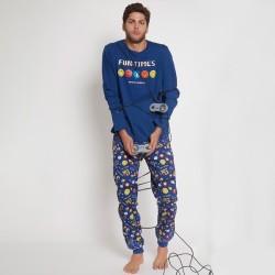 Pijama largo hombre Smiley